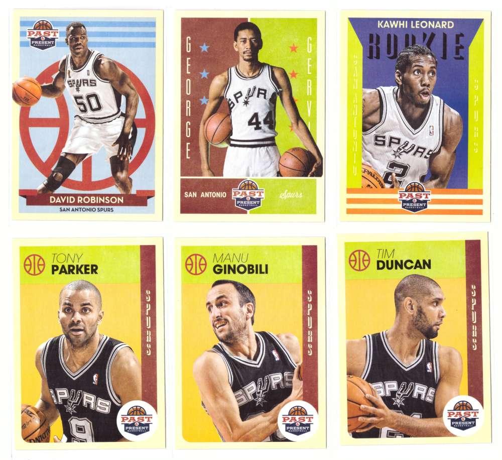2012-13 Panini Past and Present Basketball Team Set - San Antonio Spurs
