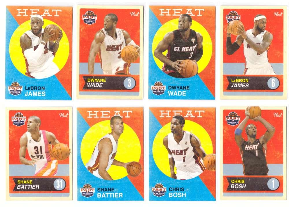 2011-12 Panini Past and Present Basketball Team Set - Miami Heat