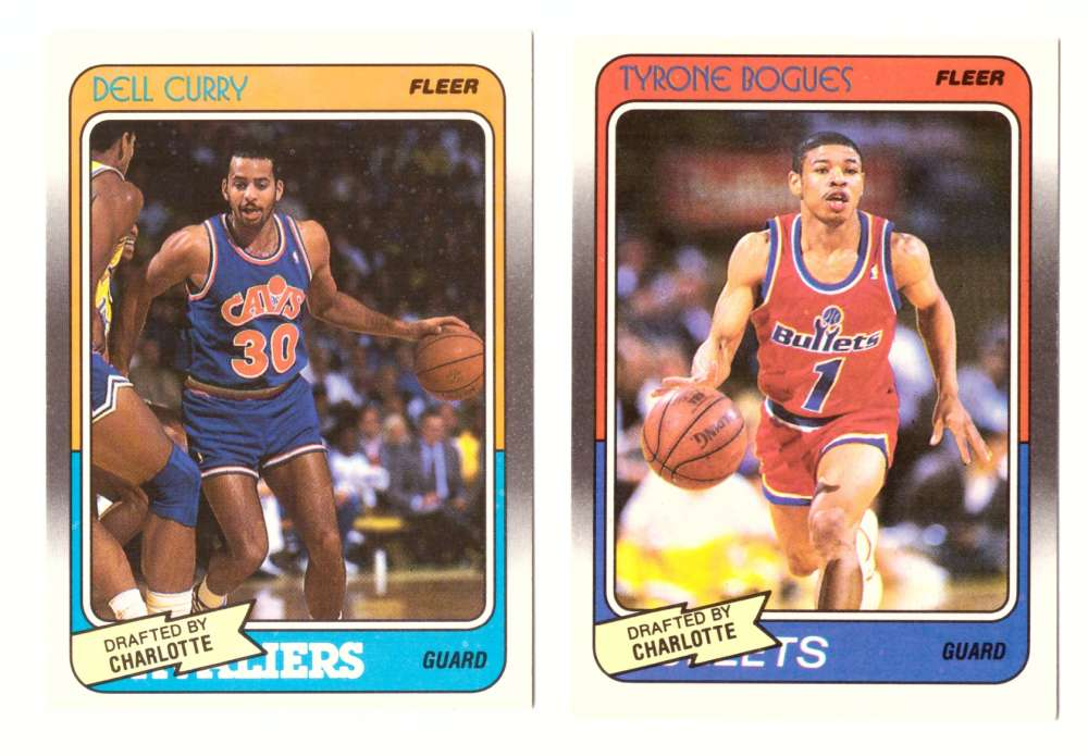 1988-89 Fleer Basketball Team Set - Charlotte Hornets