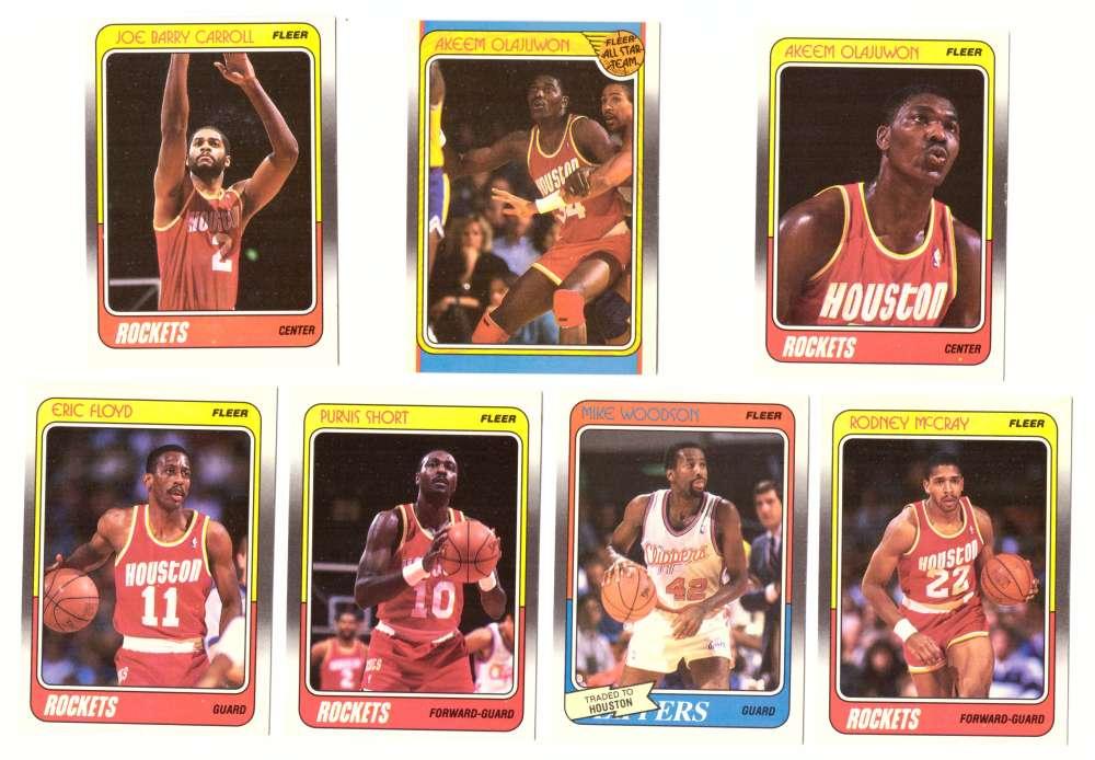 1988-89 Fleer Basketball Team Set - Houston Rockets