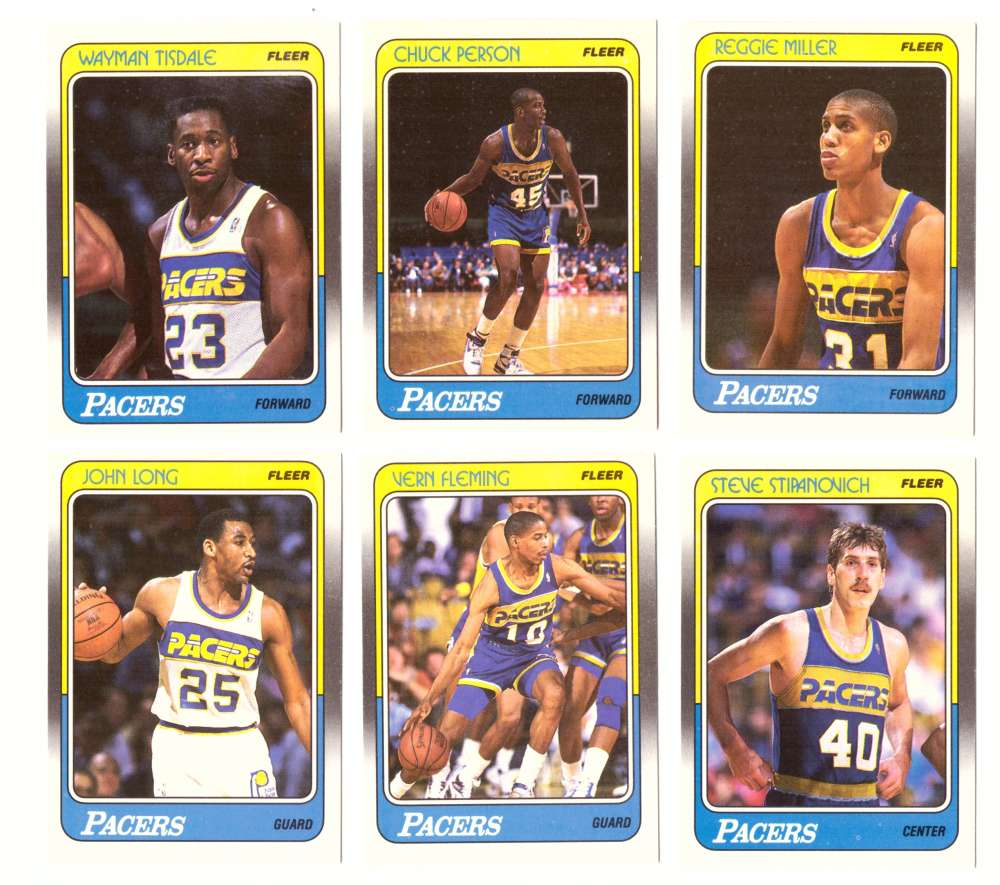 1988-89 Fleer Basketball Team Set - Indiana Pacers
