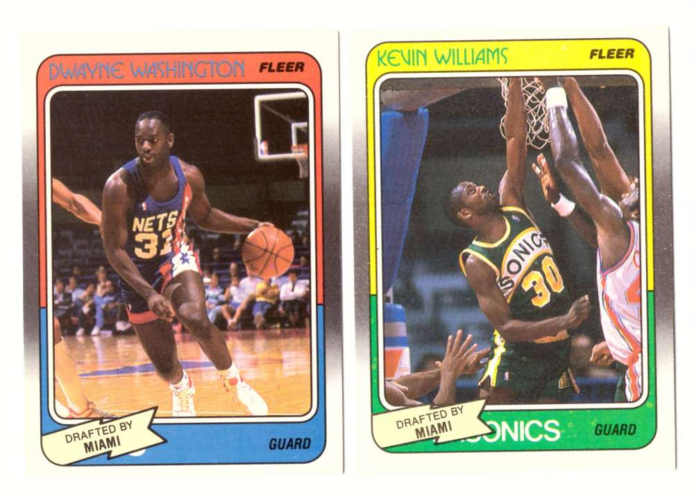 1988-89 Fleer Basketball Team Set - Miami Heat�