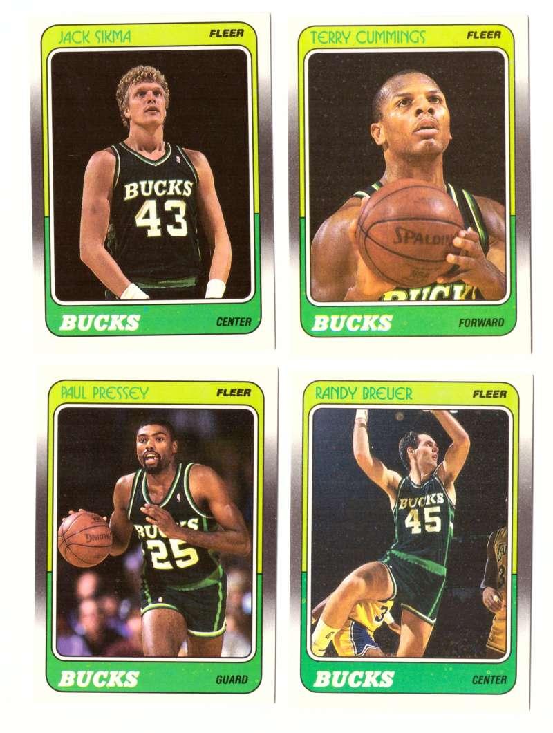 1988-89 Fleer Basketball Team Set - Milwaukee Bucks