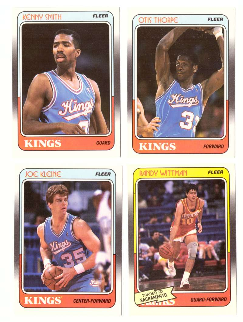 1988-89 Fleer Basketball Team Set - Sacramento Kings