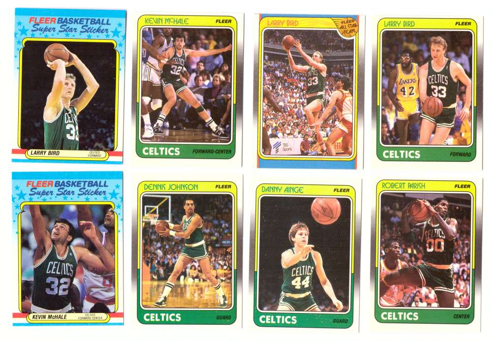 1988-89 Fleer w/ Stickers Basketball Team Set - Boston Celtics