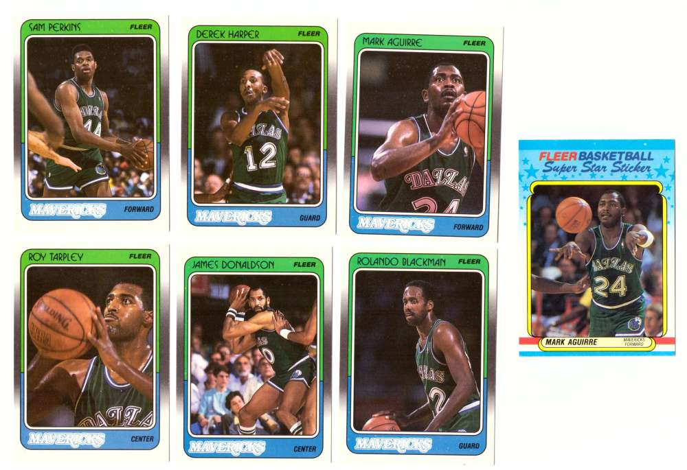 1988-89 Fleer w/ Sticker Basketball Team Set - Dallas Mavericks