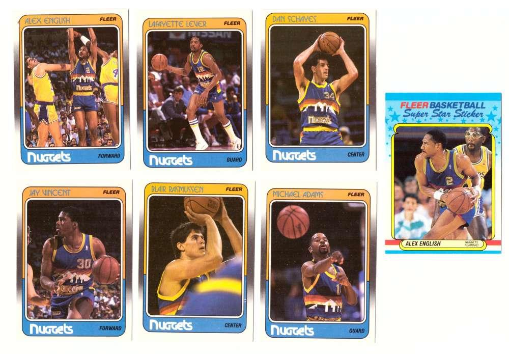 1988-89 Fleer w/ Sticker Basketball Team Set - Denver Nuggets