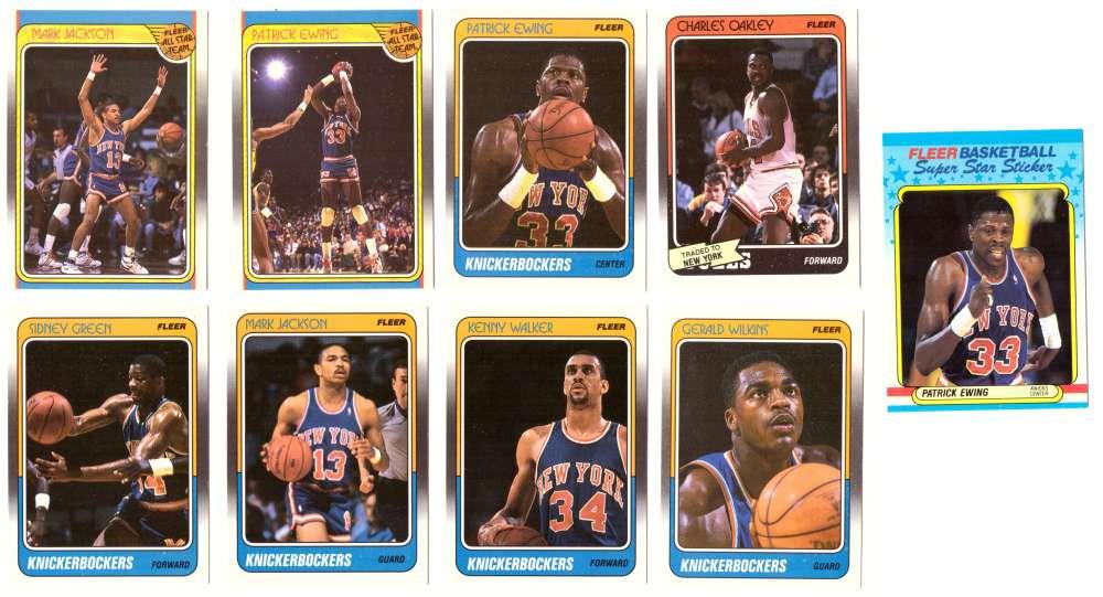 1988-89 Fleer w/ Sticker Basketball Team Set - New York Knicks