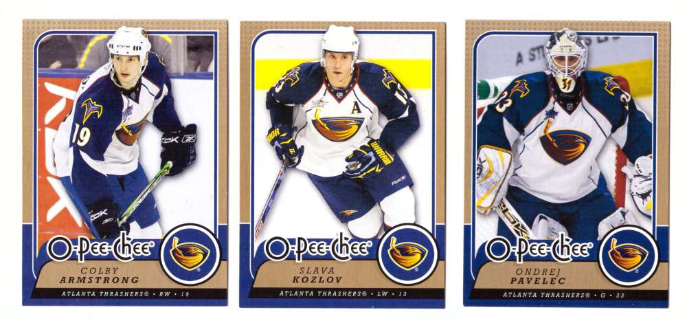 2008-09 O-Pee-Chee OPC Hockey (Base 1-500) Team Set - Atlanta Thrashers