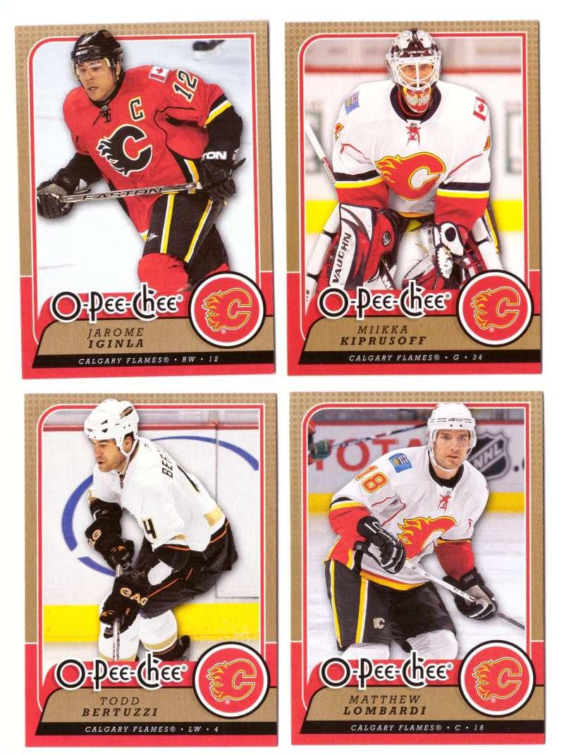 2008-09 O-Pee-Chee OPC Hockey (Base 1-500) Team Set - Calgary Flames