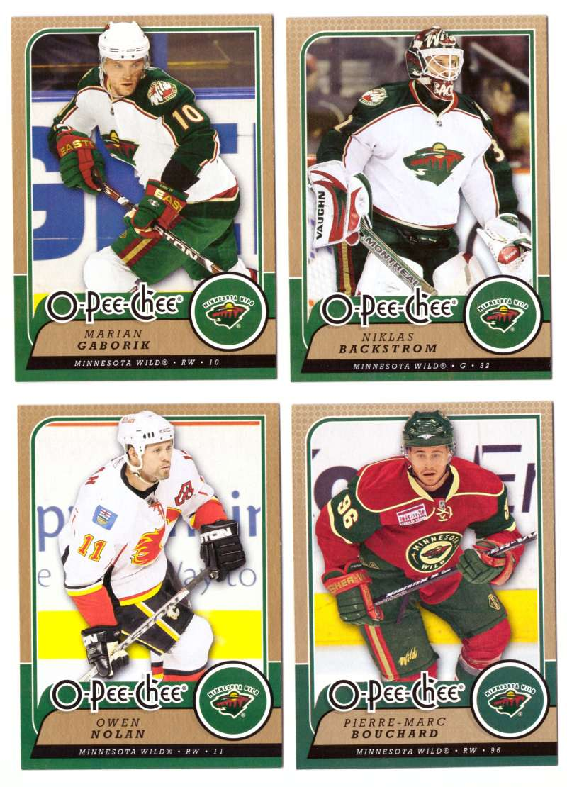 2008-09 O-Pee-Chee OPC Hockey (Base 1-500) Team Set - Minnesota Wild