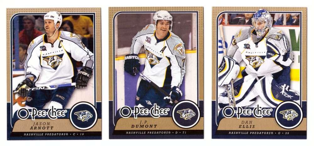 2008-09 O-Pee-Chee OPC Hockey (Base 1-500) Team Set - Nashville Predators