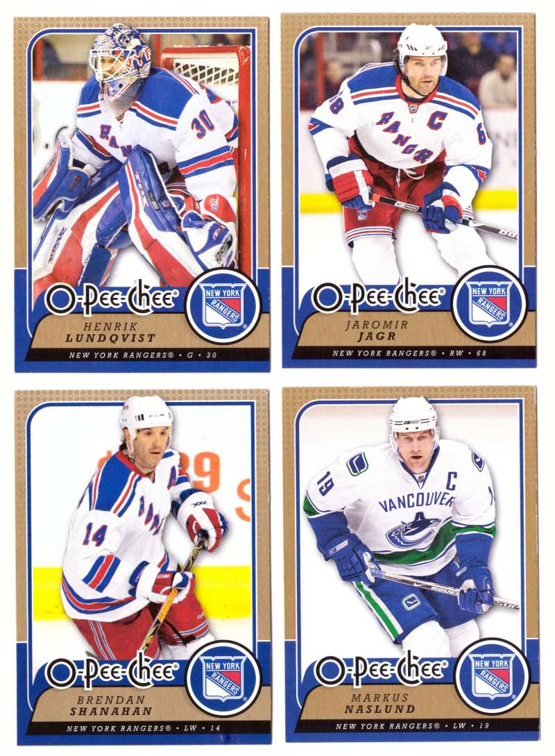 2008-09 O-Pee-Chee OPC Hockey (Base 1-500) Team Set - New York Rangers
