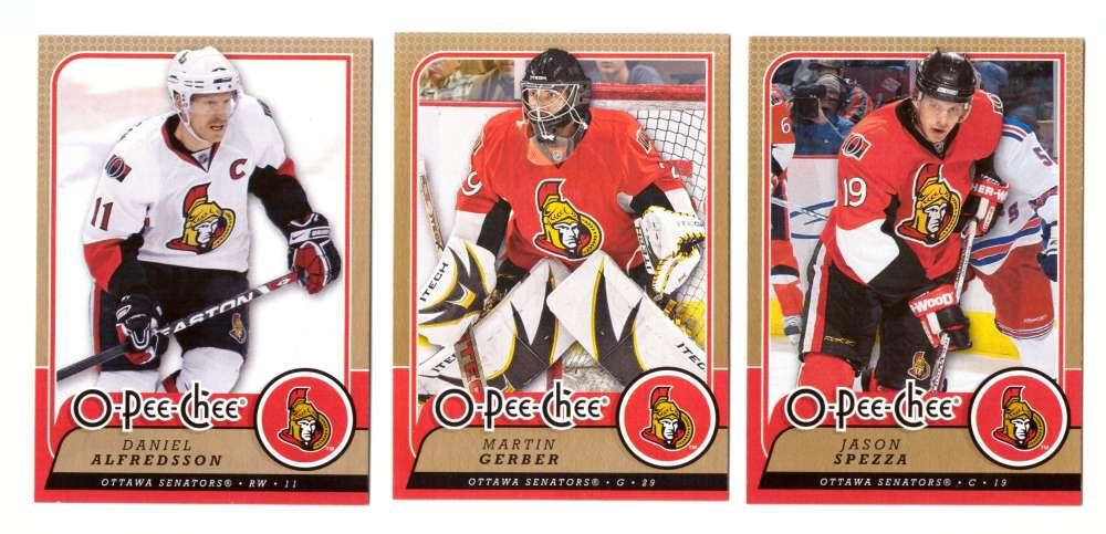 2008-09 O-Pee-Chee OPC Hockey (Base 1-500) Team Set - Ottawa Senators