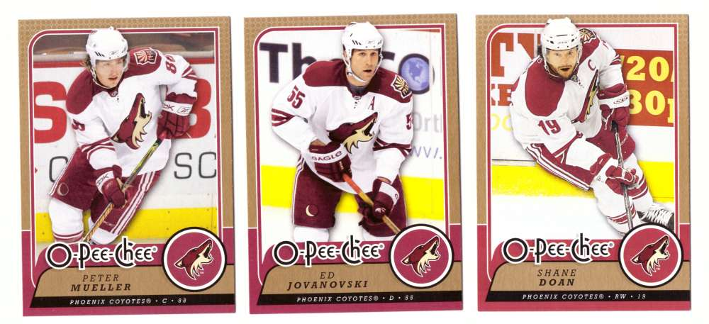 2008-09 O-Pee-Chee OPC Hockey (Base 1-500) Team Set - Phoenix Coyotes