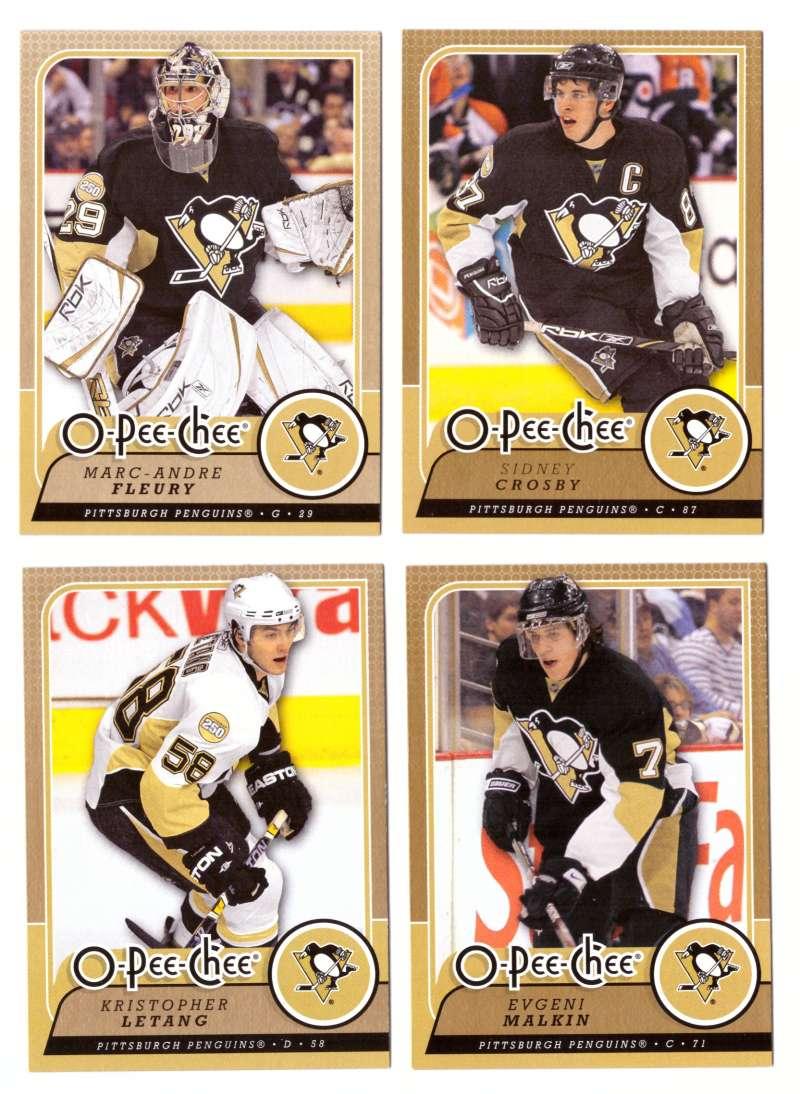 2008-09 O-Pee-Chee OPC Hockey (Base 1-500) Team Set - Pittsburgh Penguins