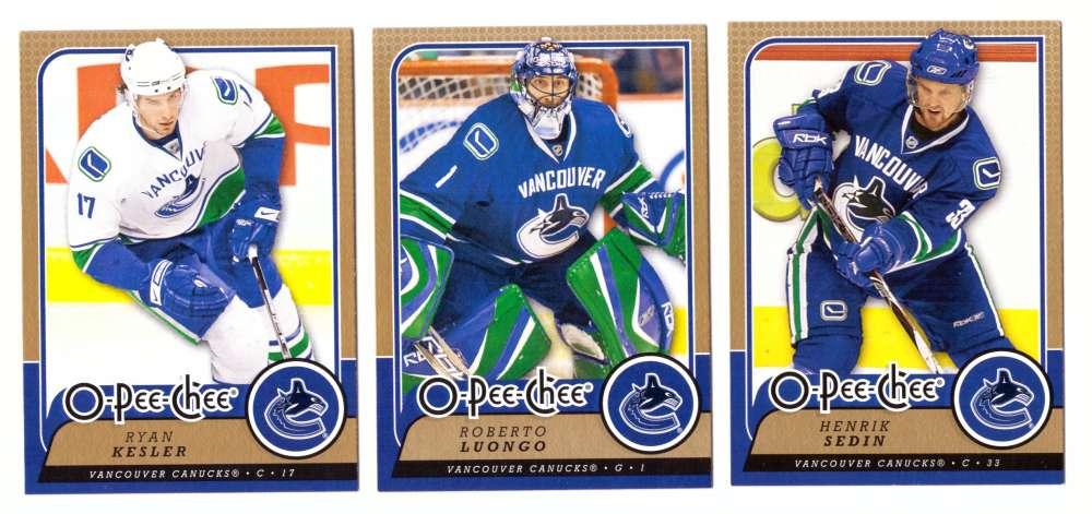 2008-09 O-Pee-Chee OPC Hockey (Base 1-500) Team Set - Vancouver Canucks