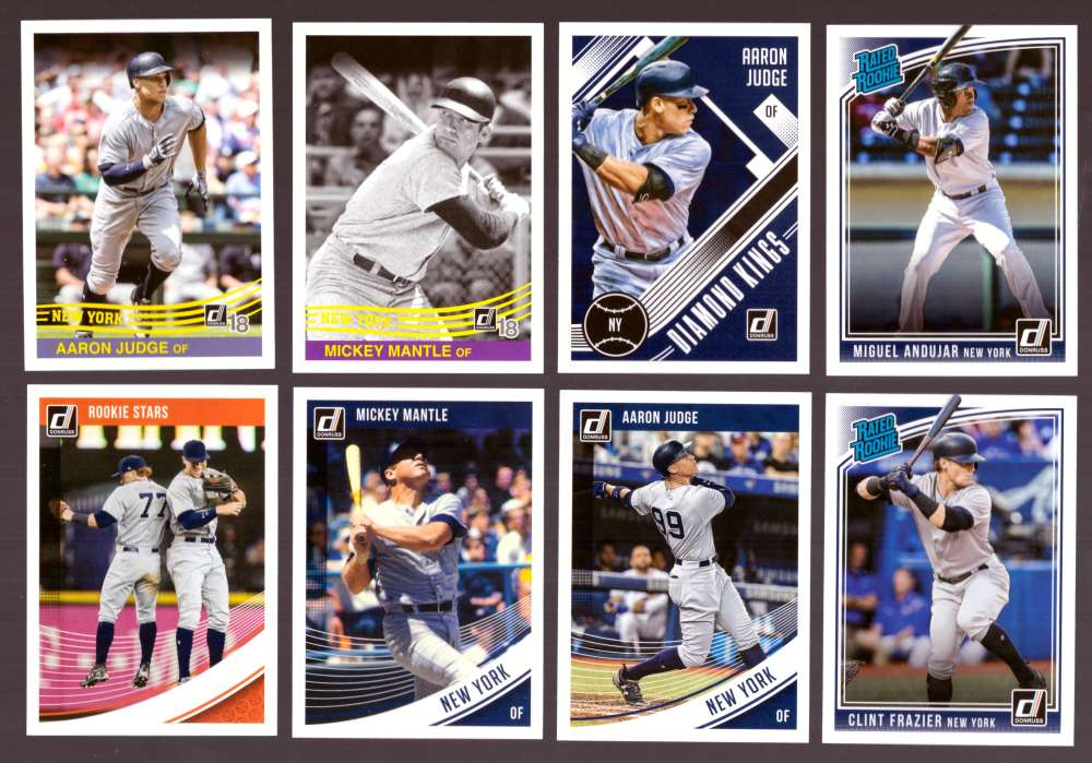 2018 Donruss (1-270) - NEW YORK YANKEES Team Set