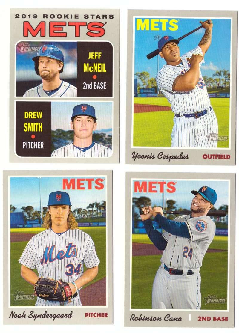 2019 Topps Heritage  (Base 1-400) - NEW YORK METS Team Set