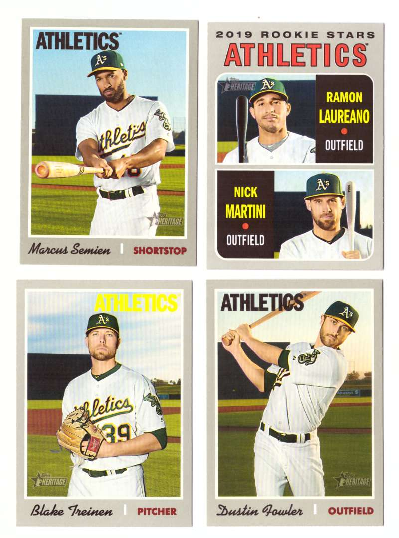 2019 Topps Heritage  (Base 1-400) - OAKLAND As Team set