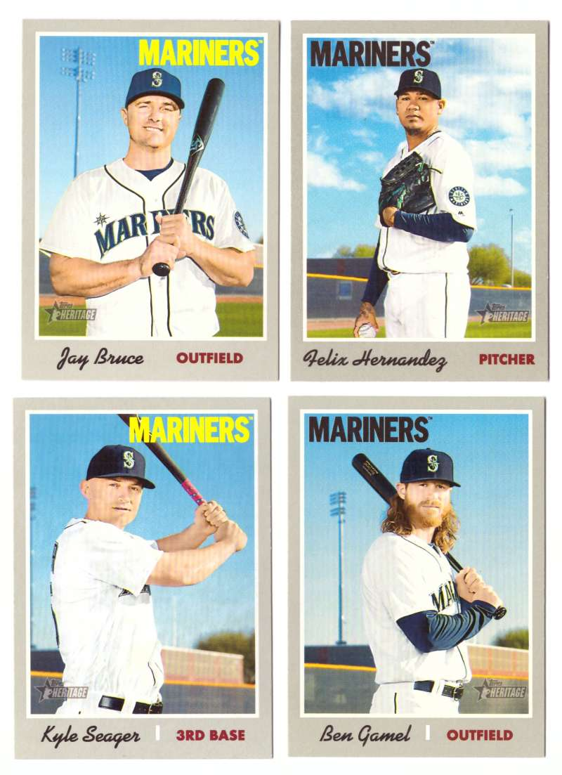 2019 Topps Heritage  (Base 1-400) - SEATTLE MARINERS Team Set