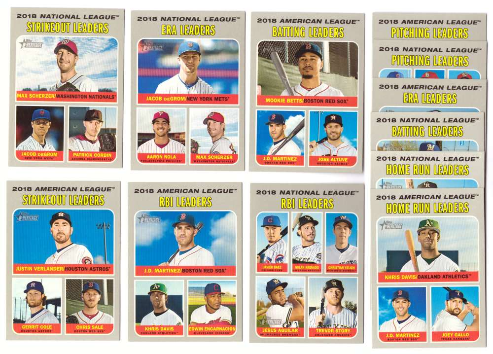 2019 Topps Heritage - League Leaders Subset