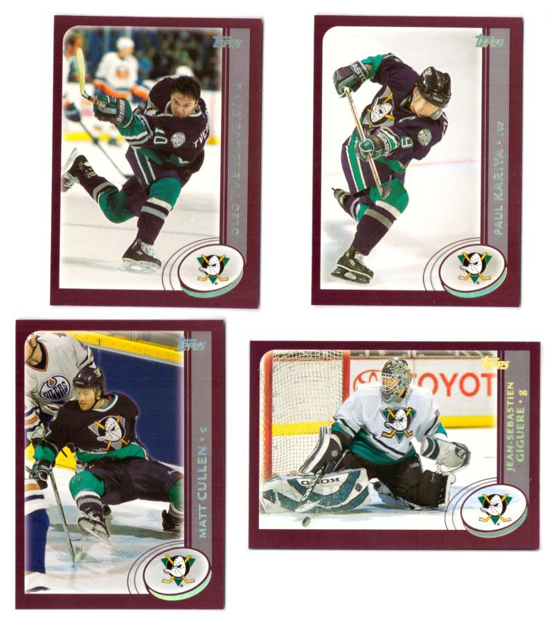 2002-03 Topps Hockey Team Set (1-330) - Anaheim Ducks