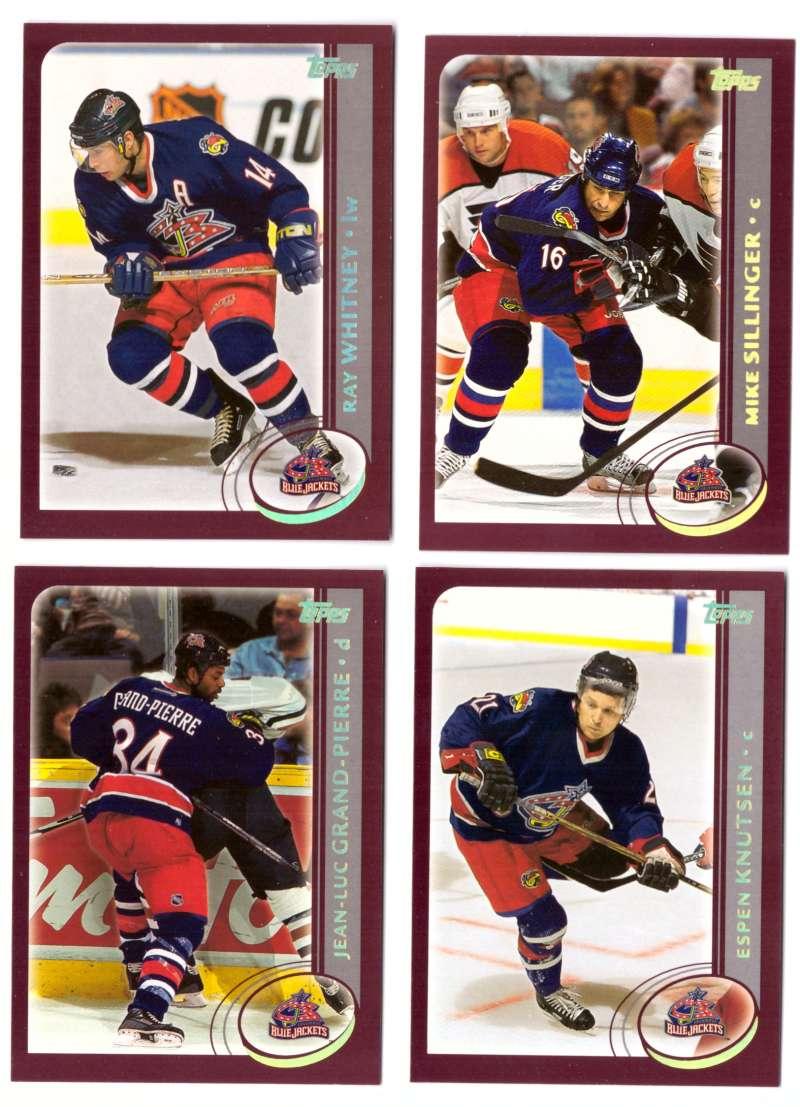 2002-03 Topps Hockey Team Set (1-330) - Columbus Blue Jackets