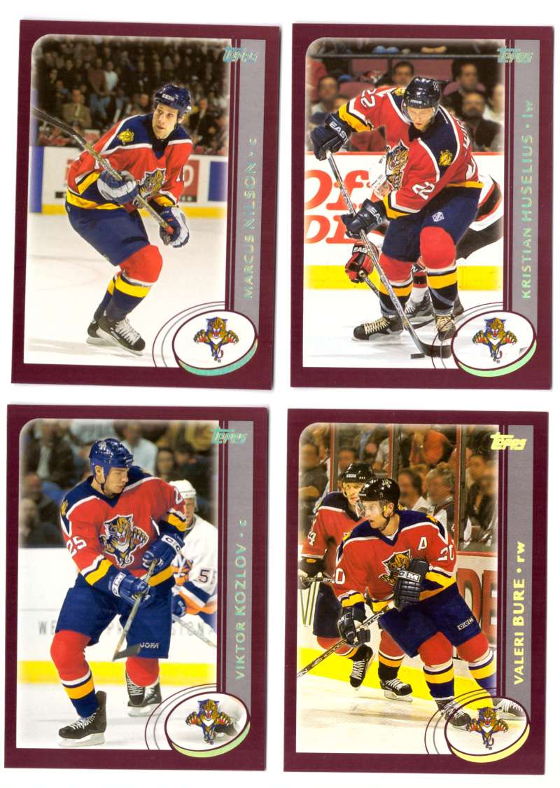 2002-03 Topps Hockey Team Set (1-330) - Florida Panthers