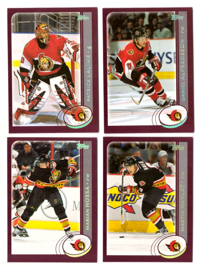 2002-03 Topps Hockey Team Set (1-330) - Ottawa Senators