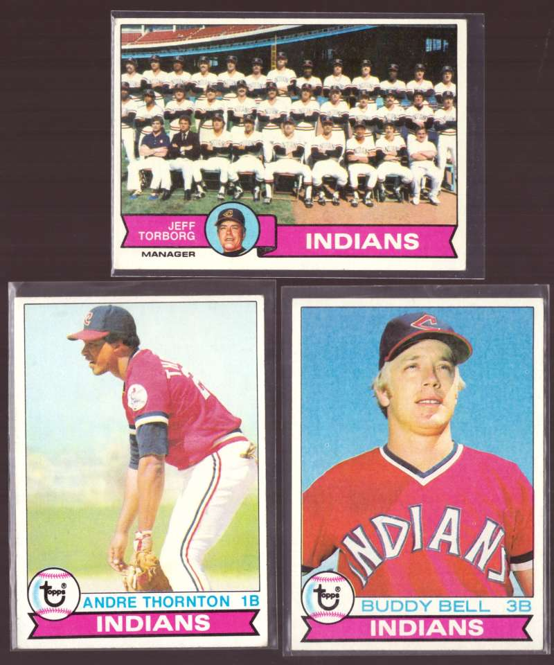 1979 Topps (EX condition D) - CLEVELAND INDIANS