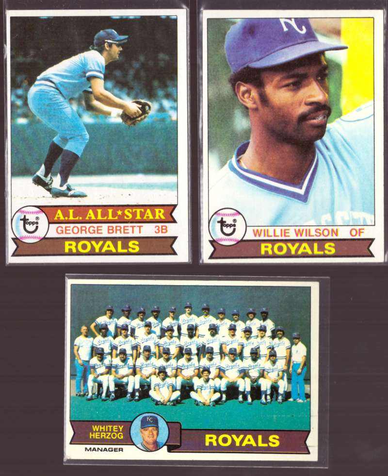 1979 Topps (EX condition D) - KANSAS CITY ROYALS