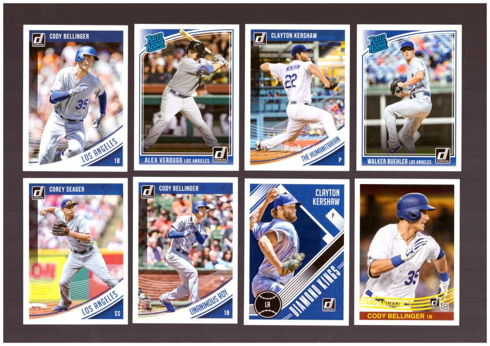 2018 Donruss w/ Variations - LOS ANGELES DODGERS Team Set