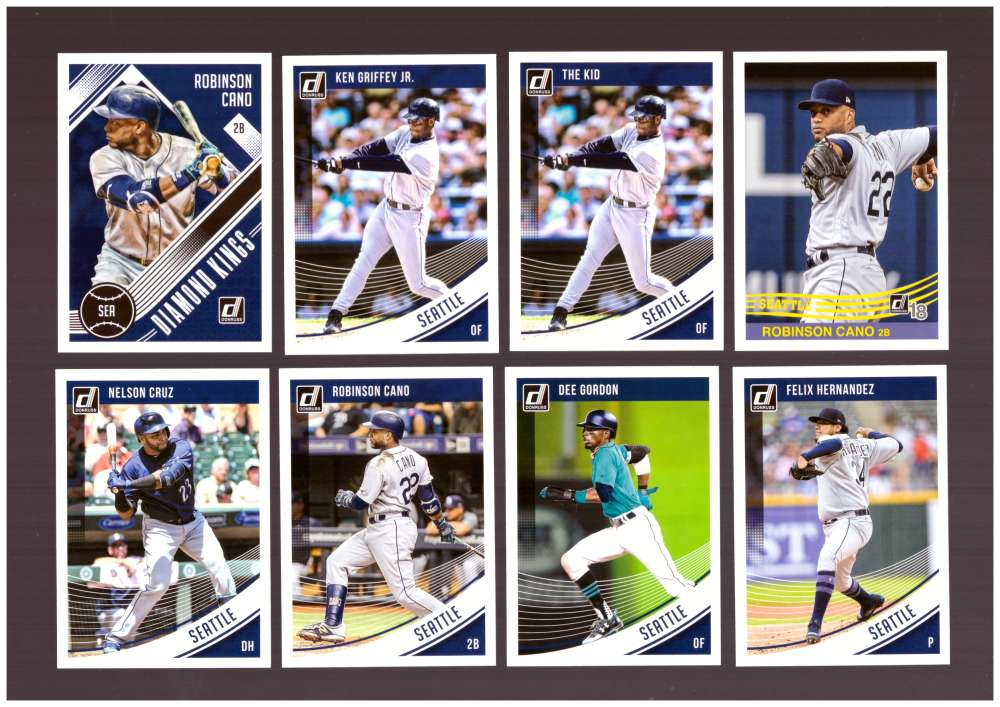 2018 Donruss w/ Variations - SEATTLE MARINERS Team Set