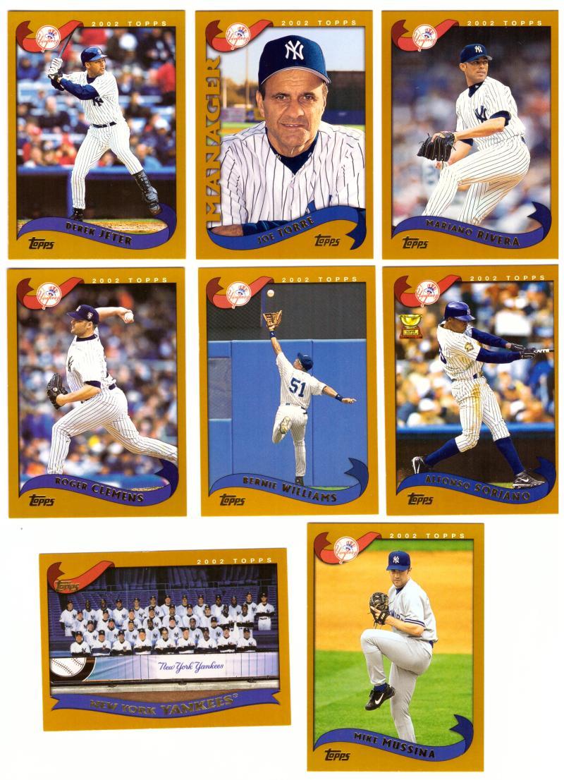 2002 Topps (25 Cards) NEW YORK YANKEES Team Set