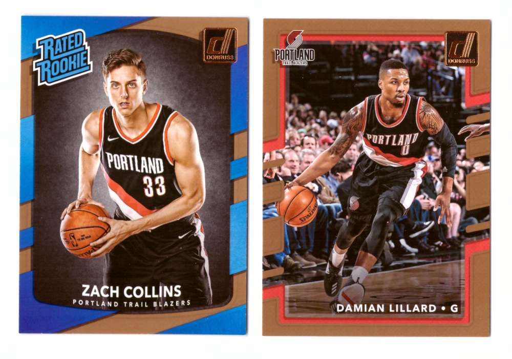 2017-18 Donruss Basketball Team Set - Portland Trail Blazers