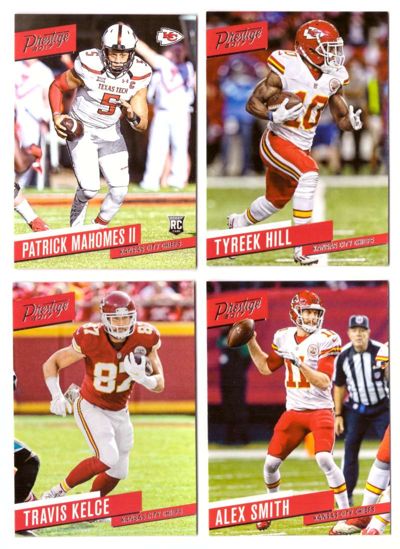 2017 Prestige Football (1-290) Team Set - KANSAS CITY CHIEFS