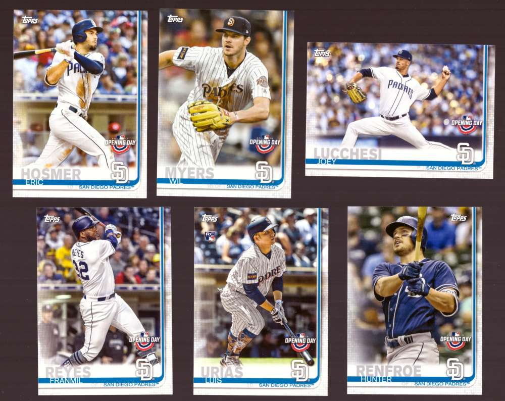 2019 Topps Opening Day - SAN DIEGO PADRES Team Set