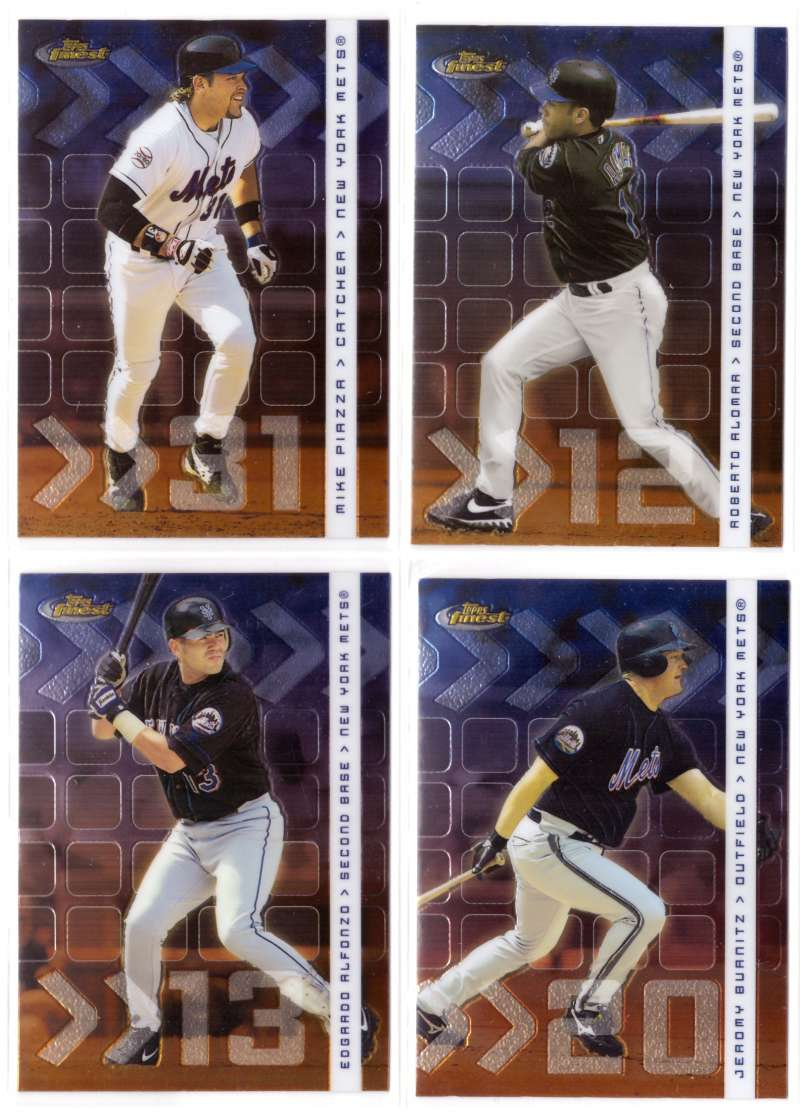 2002 Finest - NEW YORK METS Team Set