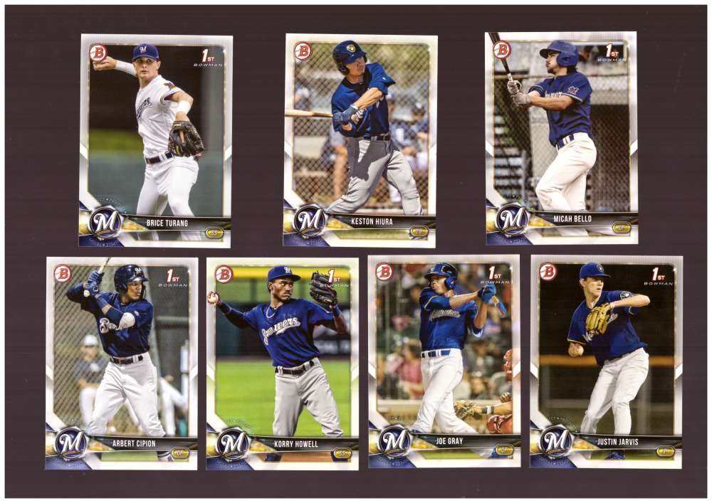 2018 Bowman Draft - MILWAUKEE BREWERS Team Set