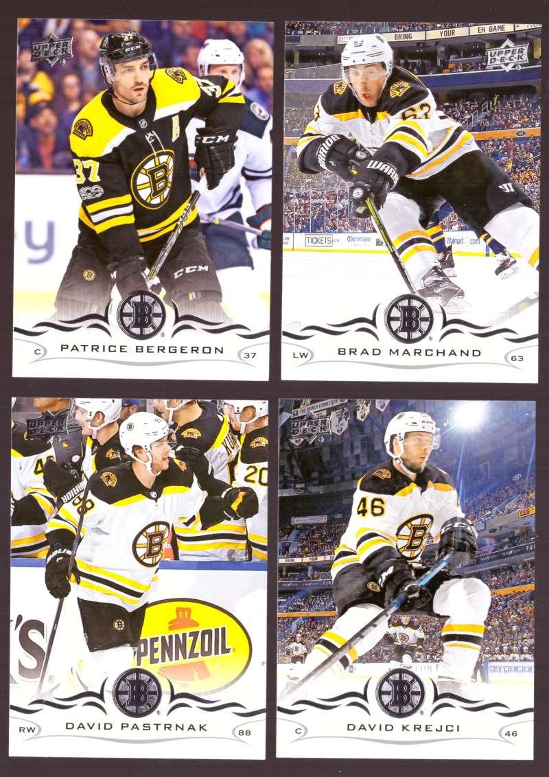 2018-19 Upper Deck Hockey (Base) Team Set - Boston Bruins