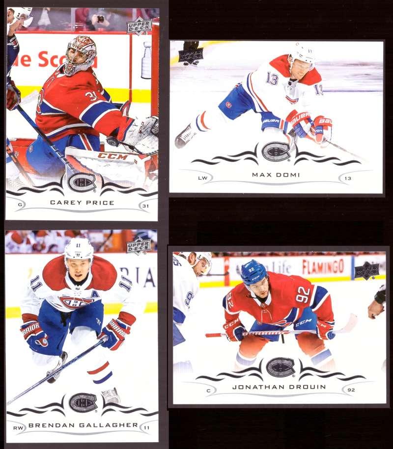 2018-19 Upper Deck Hockey (Base) Team Set - Montreal Canadiens