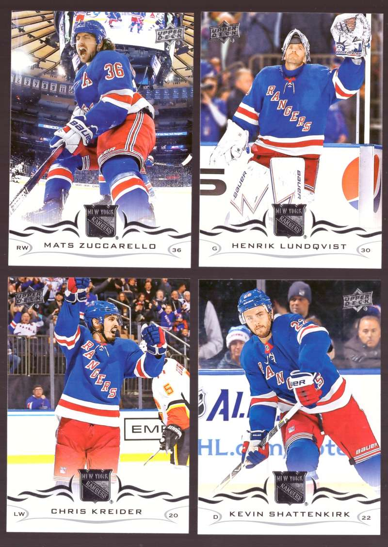 2018-19 Upper Deck Hockey (Base) Team Set - New York Rangers