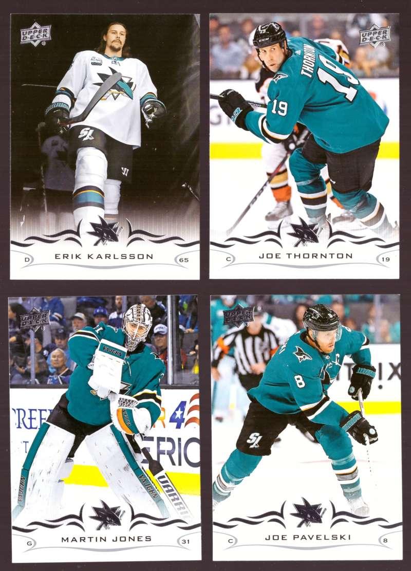 2018-19 Upper Deck Hockey (Base) Team Set - San Jose Sharks