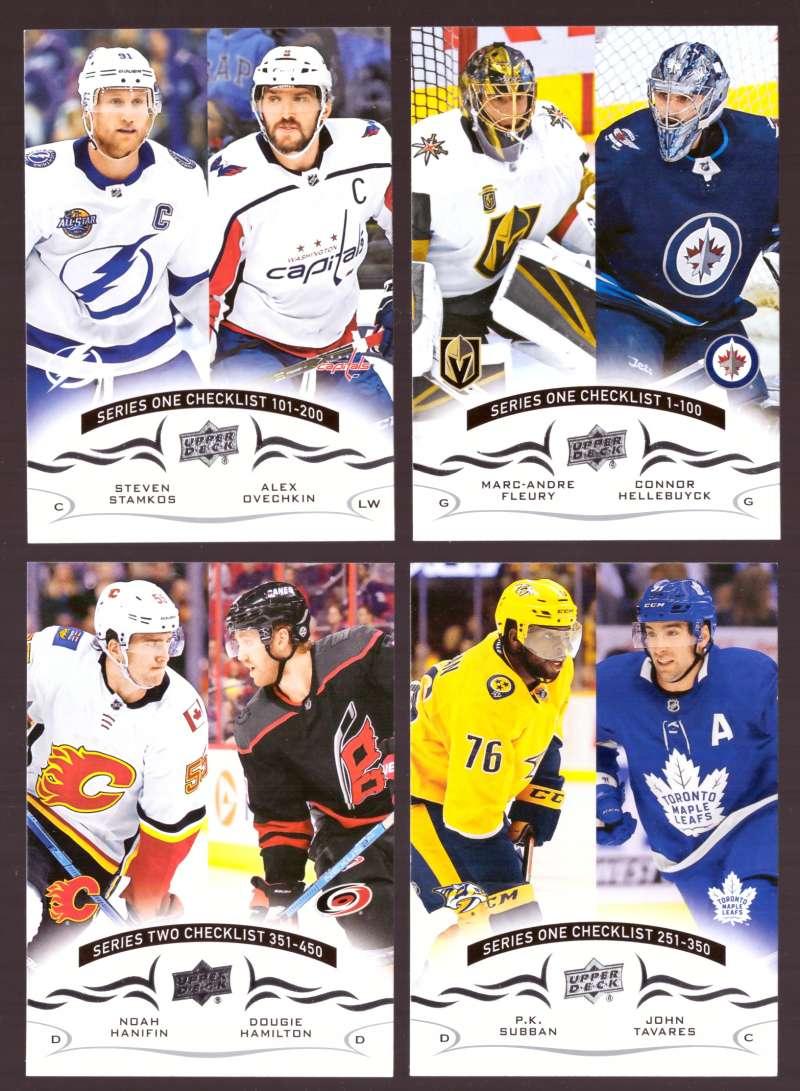 2018-19 Upper Deck Hockey (Base) Team Set - Checklist
