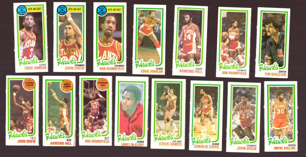 1980-81 Topps (Separated) Basketball Team Set - Atlanta Hawks
