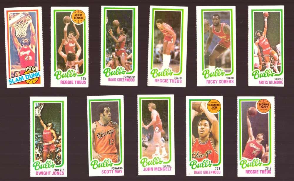 1980-81 Topps (Separated) Basketball Team Set - Chicago Bulls