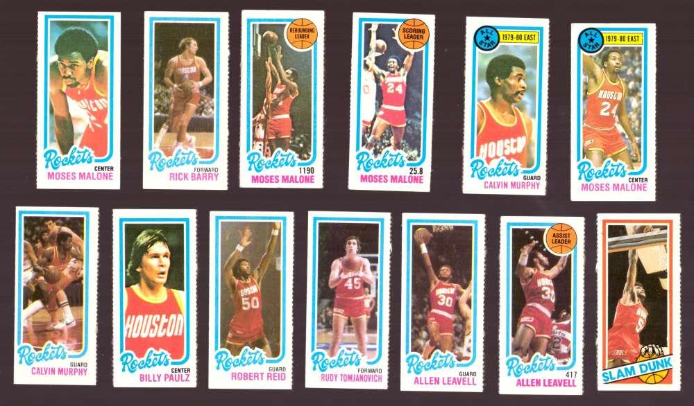 1980-81 Topps (Separated) Basketball Team Set - Houston Rockets