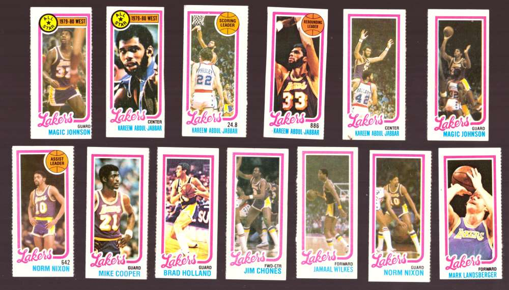 1980-81 Topps (Separated) Basketball Team Set - Los Angeles Lakers