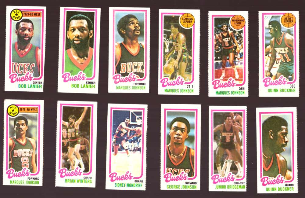 1980-81 Topps (Separated) Basketball Team Set - Milwaukee Bucks